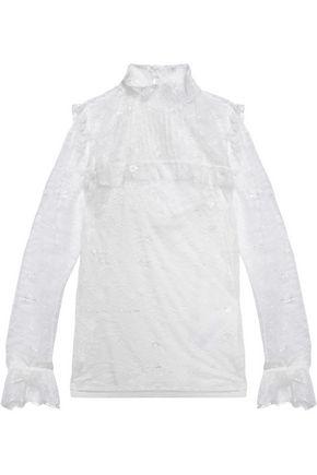 Maje corded-lace blouse
