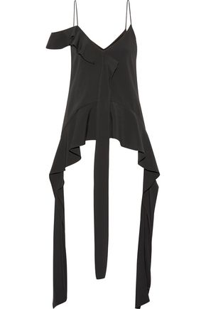 JONATHAN SIMKHAI Draped stretch-crepe top