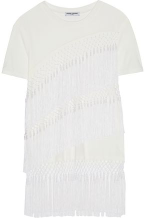 OPENING CEREMONY Lora fringed twill top