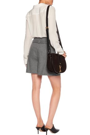 DIANE VON FURSTENBERG Chapman wool and cashmere-blend shorts