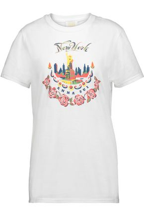 ANNA SUI Printed cotton-jersey T-shirt