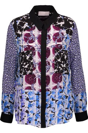 PETER PILOTTO Printed silk crepe de chine blouse