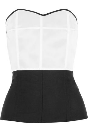 JOSEPH Marlon strapless mohair, silk and wool-blend bustier top