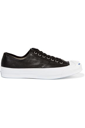 CONVERSE JACK PURCELL Jack Purcell Signature perforated leather sneakers