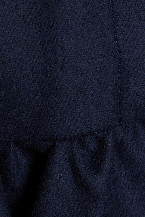 MSGM Ruffled wool-felt top