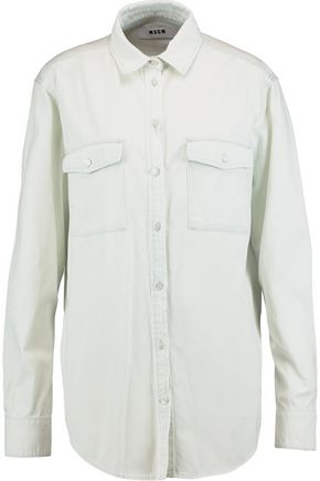 MSGM Printed cotton-twill shirt