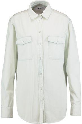 MSGM Printed cotton-twill shirt