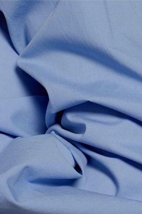 MSGM Cutout cotton-blend poplin shirt