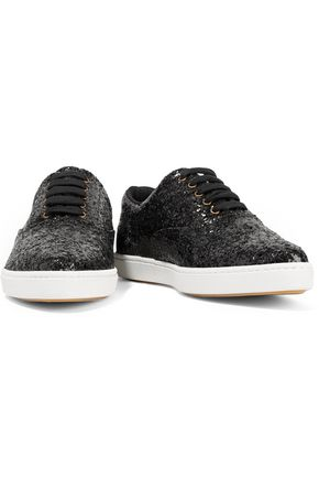 TOMAS MAIER Glittered mesh sneakers