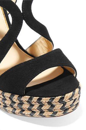 PALOMA BARCELÓ Clarisse cutout nubuck espadrille wedge sandals