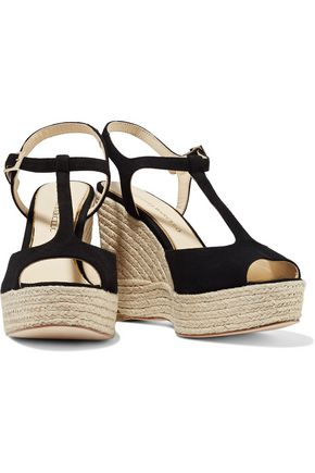 PALOMA BARCELÓ Sandrine suede wedge sandals