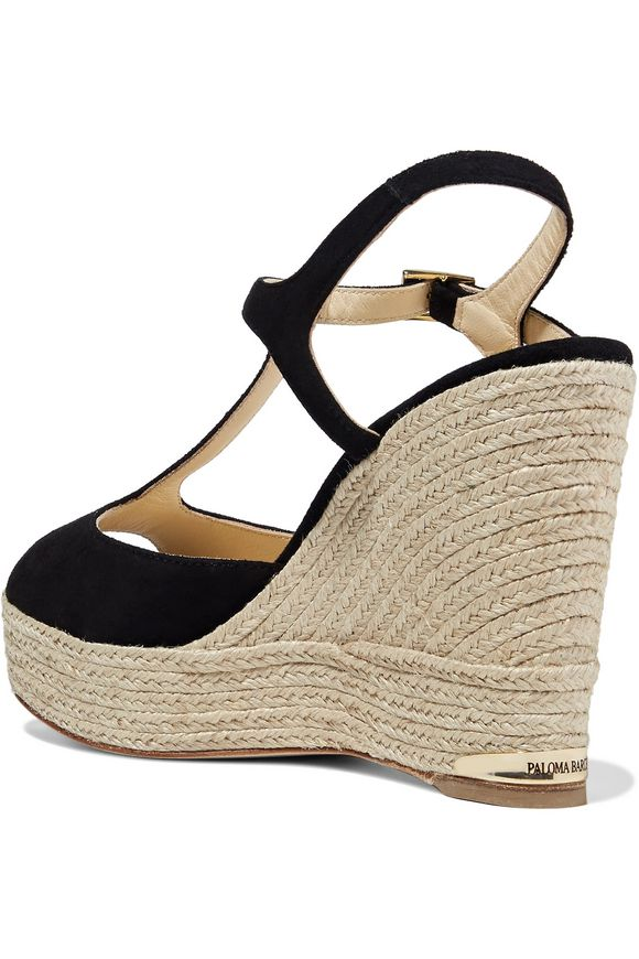 Sandrine suede wedge sandals | PALOMA BARCELÓ | Sale up to 70% off | THE  OUTNET
