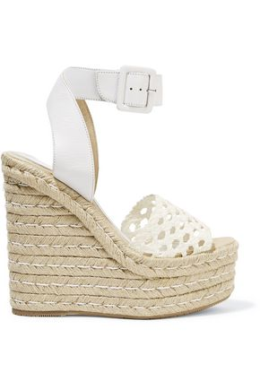 Eva Crocheted Leather Wedge Sandals by Paloma BarcelÓ