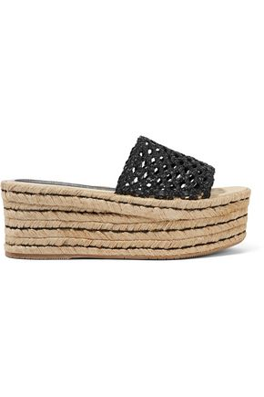 PALOMA BARCELÓ Esperanza braided leather platform slides
