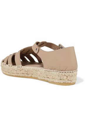 PALOMA BARCELÓ Irma cutout leather espadrilles