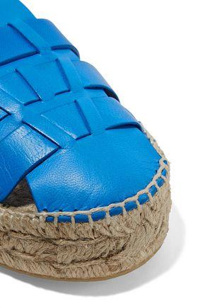 PALOMA BARCELÓ Irma cutout leather espadrilles