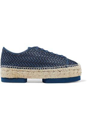 PALOMA BARCELÓ Olga woven platform espadrille sneakers