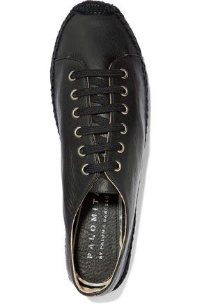 PALOMA BARCELÓ Orlanda textured-leather espadrilles
