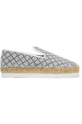 Paula Leather Trimmed Woven Platform Espadrilles by Paloma BarcelÓ