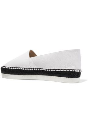 PALOMA BARCELÓ Perla textured-leather espadrilles