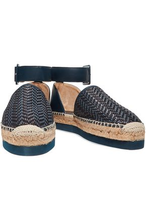 PALOMA BARCELÓ Ursula textured and woven leather espadrilles