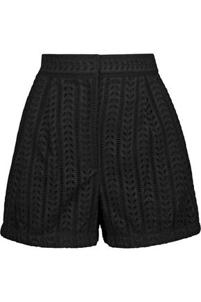 PHILOSOPHY di LORENZO SERAFINI Broderie anglaise cotton-blend shorts