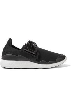 Y-3 + adidas Originals Chimu Boost PVC and leather-trimmed mesh sneakers