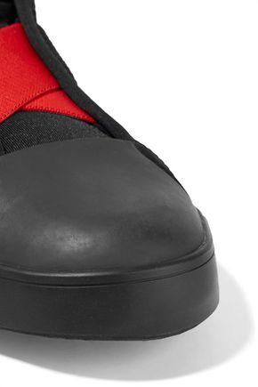 Y-3 + adidas Originals Loop Court mesh and neoprene high-top sneakers