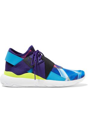 Y-3 + adidas Originals Qasa Elle mesh and printed neoprene sneakers
