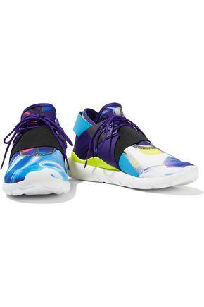 Y-3 + adidas Originals Qasa Elle mesh and printed neoprene sneakers