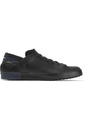 Y-3 + adidas Originals Smooth Court perforated leather and neoprene sneakers