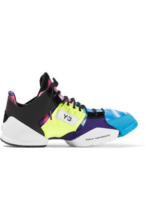 eac6d4ad9a480 Y-3 + adidas Originals Kanja rubber and printed stretch-knit sneakers ...