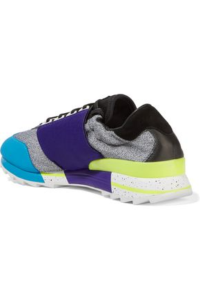 4654f6170792 ... Y-3 + adidas Originals Rhita Sport leather-trimmed mesh and neoprene  sneakers