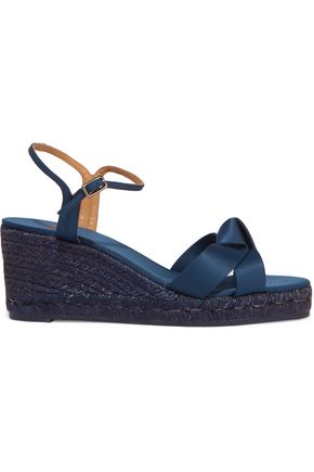 CASTAÑER Becca satin wedge espadrille sandals