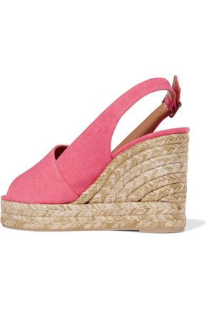 CASTAÑER Bella canvas wedge espadrille sandals