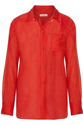 ISABEL MARANT ÉTOILE Lindsey cotton and silk-blend broadcloth shirt