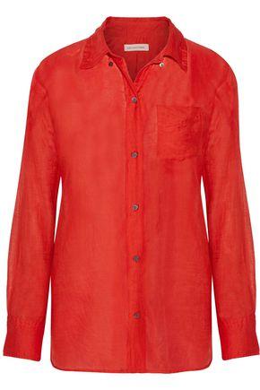 ISABEL MARANT ÉTOILE Lindsey cotton and silk-blend broadcloth shirt