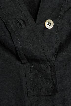 ISABEL MARANT ÉTOILE Laper gathered cotton and silk-blend voile blouse