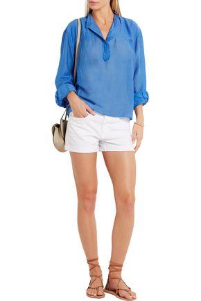 ISABEL MARANT ÉTOILE Laper cotton and silk-blend blouse