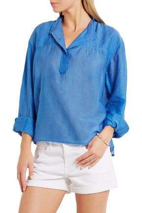 ISABEL MARANT ÉTOILE Laper cotton and silk-blend blouse