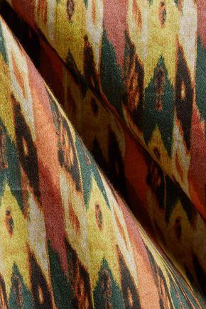 ISABEL MARANT ÉTOILE Grani Haut asymmetric printed cotton top