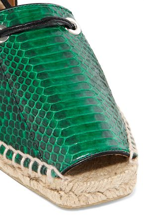 CASTAÑER Paulina snake-effect leather espadrilles