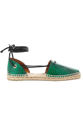 CASTAÑER Snake-effect leather espadrilles