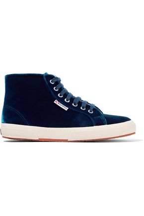 SUPERGA® Velvet high-top sneakers