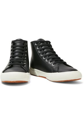 SUPERGA® Leather high-top sneakers