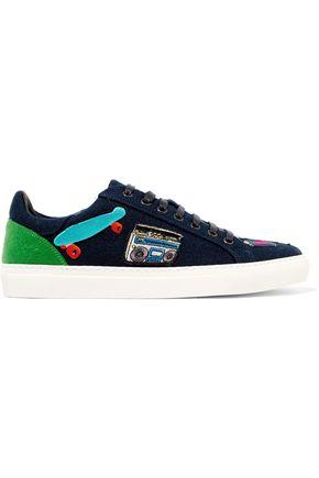 MIRA MIKATI Appliquéd felt sneakers