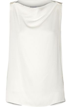 VIONNET Silk-blend satin top