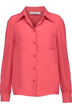 PHILOSOPHY di LORENZO SERAFINI Crepe de chine blouse