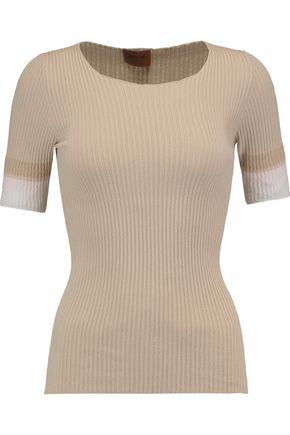 MISSONI Ribbed stretch-knit top