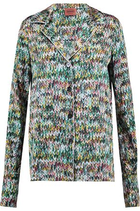 MISSONI Printed stretch-silk shirt